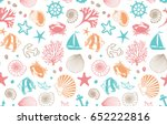 marine seamless background | Shutterstock .eps vector #652222816