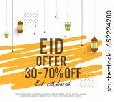 sale banner or sale poster for... | Shutterstock .eps vector #652224280