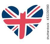 united kingdom heart flag vector | Shutterstock .eps vector #652230580