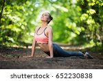 beautiful slim woman exercising ... | Shutterstock . vector #652230838