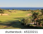landscape of a golf course on... | Shutterstock . vector #65223211