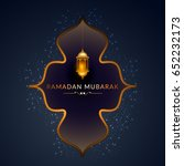 illustration of ramadan kareem... | Shutterstock .eps vector #652232173