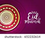 eid mubarak greeting card... | Shutterstock .eps vector #652232614
