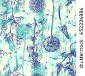 hand drawn vector seamless... | Shutterstock .eps vector #652236886
