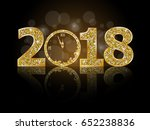 happy new year 2018  | Shutterstock .eps vector #652238836
