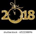 happy new year 2018  | Shutterstock .eps vector #652238896