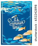 summer holiday and summer camp...   Shutterstock .eps vector #652242898
