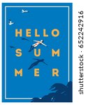 summer holiday and summer camp... | Shutterstock .eps vector #652242916