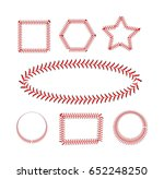 lace from a baseball on a white ... | Shutterstock .eps vector #652248250