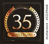 35 years anniversary gold... | Shutterstock .eps vector #652259668