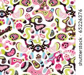 cute seamless pattern in cmyk colors - stock vector