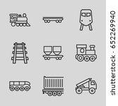 train icons set. set of 9 train ... | Shutterstock .eps vector #652269940