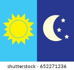 vector illustration of day and... | Shutterstock .eps vector #652271236