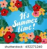 vector illustration of floral... | Shutterstock .eps vector #652271260