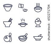 bowl icons set. set of 9 bowl... | Shutterstock .eps vector #652271704