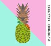 trendy pineapple with vivid ... | Shutterstock .eps vector #652275568