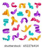 colorful arrows set. design...   Shutterstock .eps vector #652276414