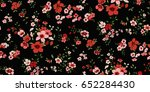 seamless floral pattern in... | Shutterstock .eps vector #652284430