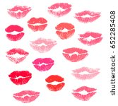 collection print of lips ... | Shutterstock .eps vector #652285408
