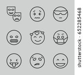expression icons set. set of 9... | Shutterstock .eps vector #652285468