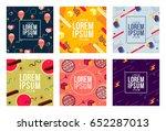 memphis style cards design... | Shutterstock .eps vector #652287013