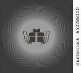 gift box icon   Shutterstock .eps vector #652288120