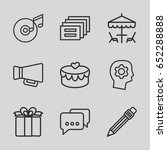 pictograph icons set. set of 9...   Shutterstock .eps vector #652288888
