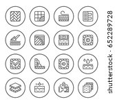set round line icons of floor