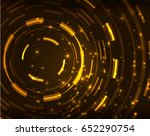 neon yellow circles vector... | Shutterstock .eps vector #652290754