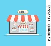 marketplace online vector... | Shutterstock .eps vector #652303294