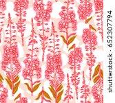 epilobium angustifolium ... | Shutterstock . vector #652307794