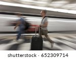 traveler silhouettes in motion... | Shutterstock . vector #652309714