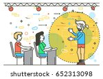 vector illustration orator... | Shutterstock .eps vector #652313098