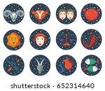 zodiac signs | Shutterstock .eps vector #652314640