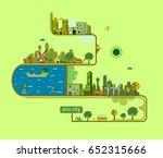 eco city | Shutterstock .eps vector #652315666