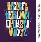 graffiti font vector | Shutterstock .eps vector #652320016