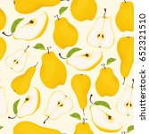 seamless pear pattern.... | Shutterstock .eps vector #652321510