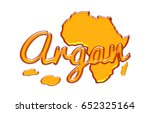 map of africa and argan lyrics... | Shutterstock . vector #652325164
