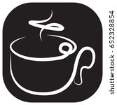 hot drinks icon black and white ... | Shutterstock .eps vector #652328854
