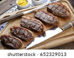 grilled picanha  traditional... | Shutterstock . vector #652329013