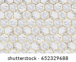 marble tiles with gold grout | Shutterstock . vector #652329688