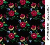 embroidery seamless pattern... | Shutterstock .eps vector #652332574