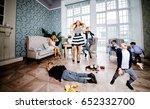 moms and kids spending time in... | Shutterstock . vector #652332700