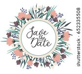 save the date modern...   Shutterstock .eps vector #652335508