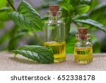 essential oil made from mint | Shutterstock . vector #652338178
