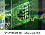 stock market chart. business... | Shutterstock . vector #652338766