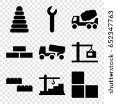 build icons set. set of 9 build ... | Shutterstock .eps vector #652347763