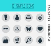 vector illustration set of... | Shutterstock .eps vector #652347913