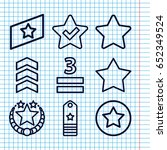 set of 9 rating outline icons...