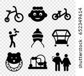 newborn icons set. set of 9... | Shutterstock .eps vector #652349614